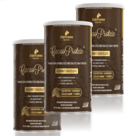 Combo 3 Whey Cacao Protein 100% Isolado Hidrolisado 450g
