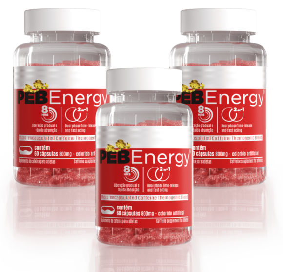 Combo 3 PEB Energy Termogênico Cafeína e Óleo de Cártamo