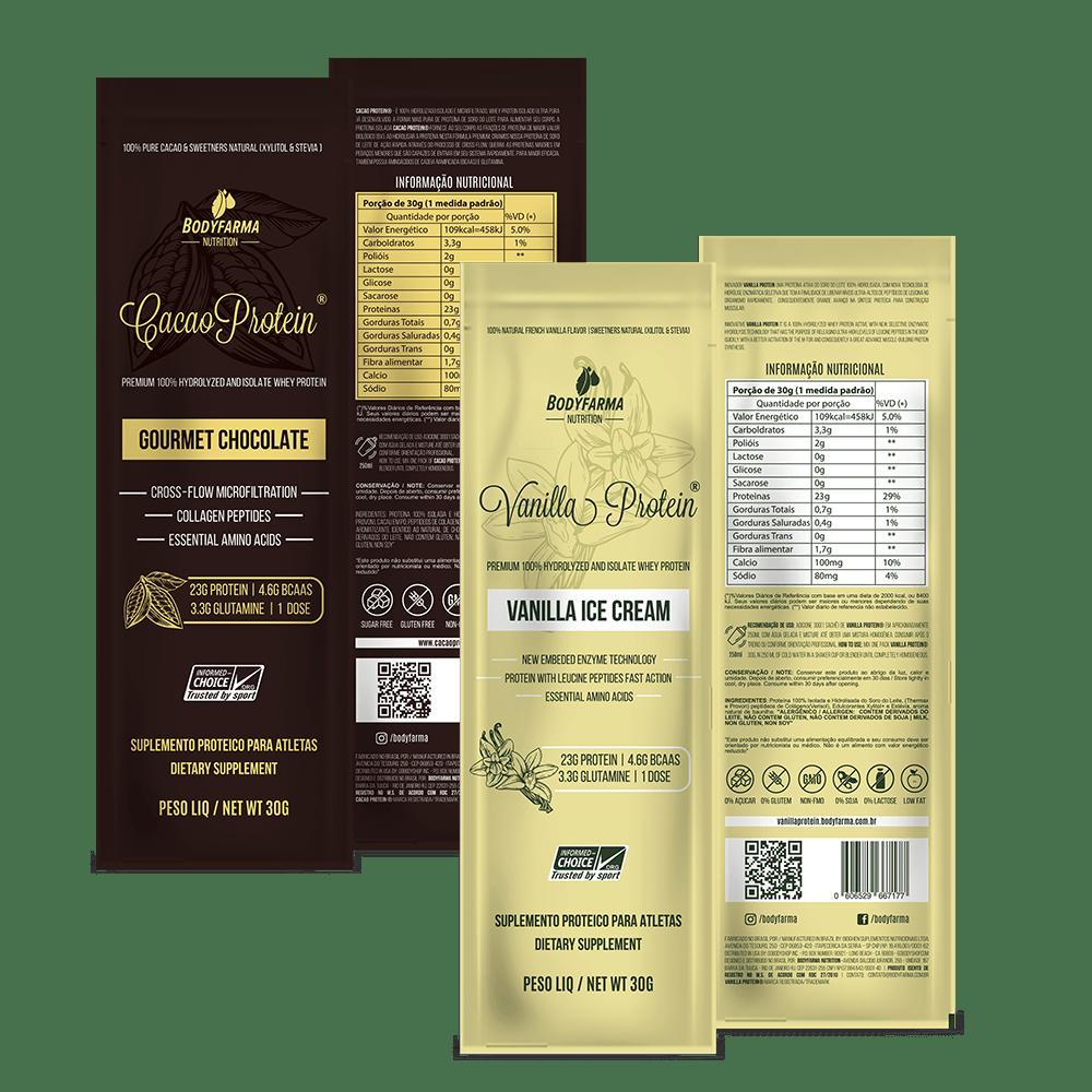 Monte seu kit (Cacao Protein ou Vanilla Protein) Min. 5 sachês