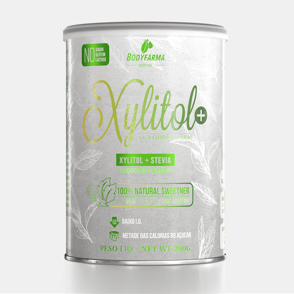 Adoçante natural Xylitol+ da Bodyfarma Nutrition