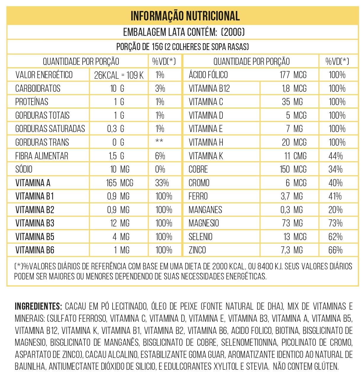 Kit Chocobon Achocolatado Saudável Vitaminado 2 unid. 200g
