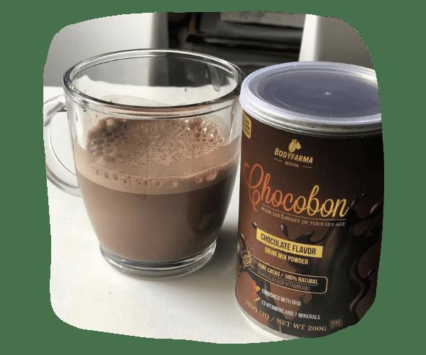 Kit 05 Chocobon achocolatado vitaminado com DHA sem açúcar