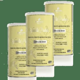 Combo 3 Whey Vanilla Protein Ice-Cream 450g