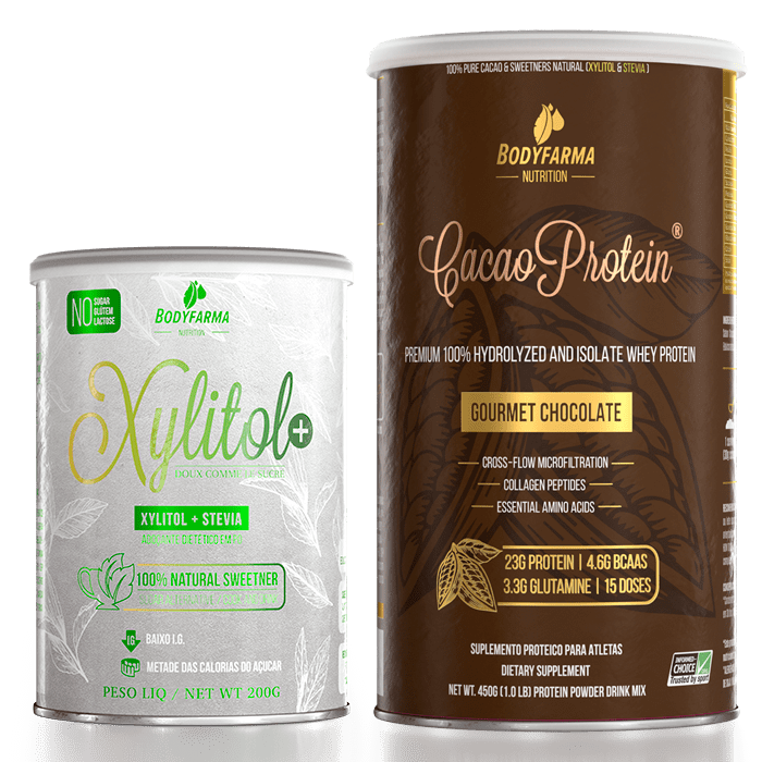 Whey Cacao Protein 450g + Xylitol+ 200g