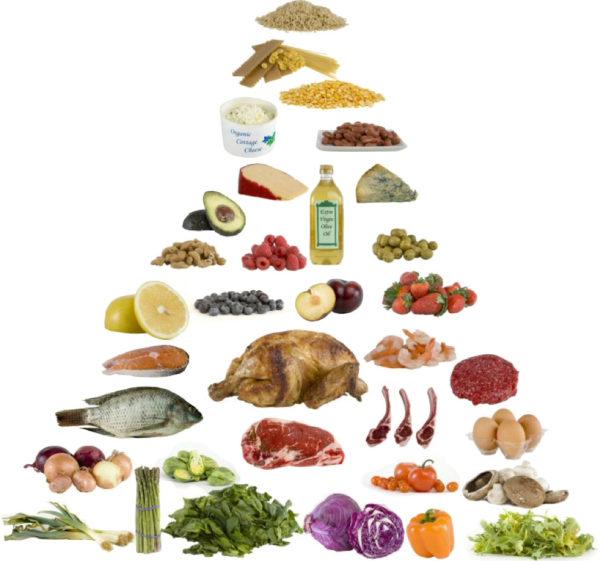 Pirâmide alimentar da dieta lowcarb