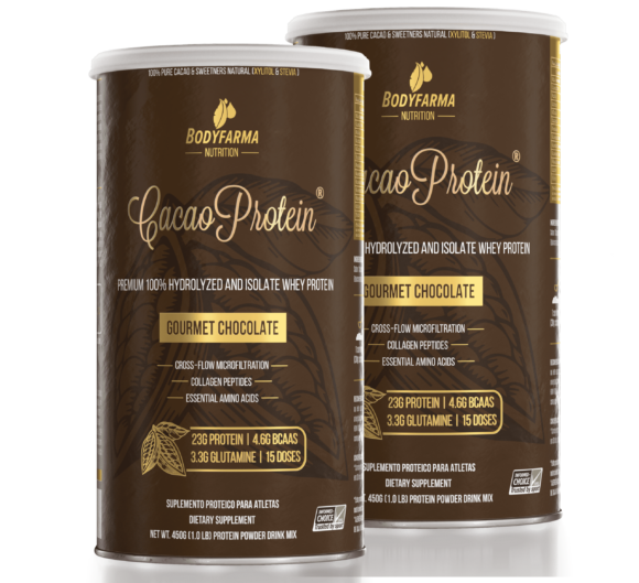Combo 2 Potes Whey Cacao Protein Gourmet Chocolate