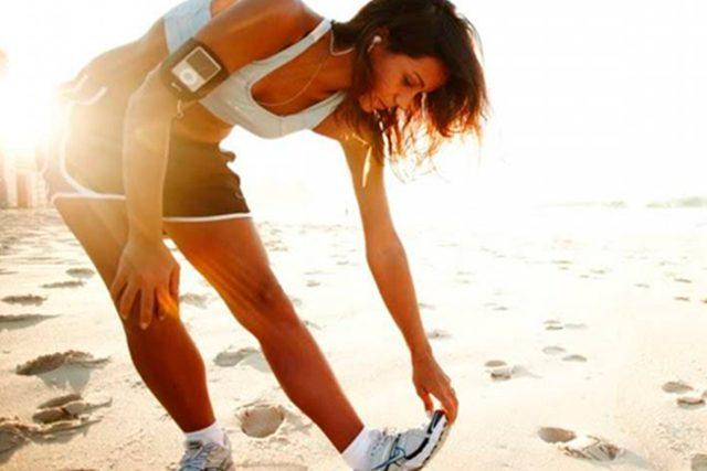 Exercícios na Praia