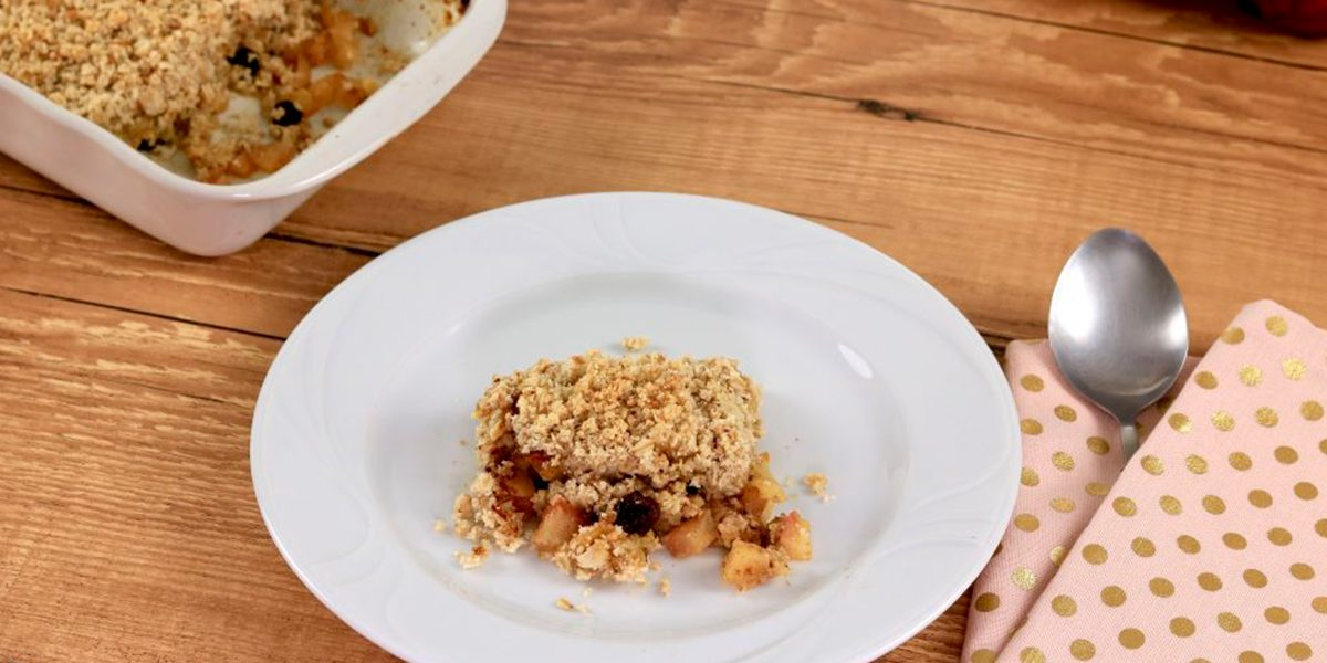 Crumble Fit de Maçã