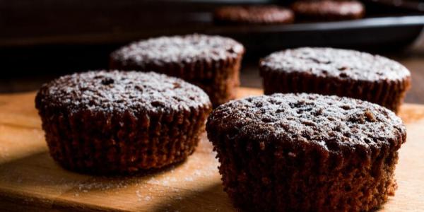 Cupcake Fit de Chocolate com Whey