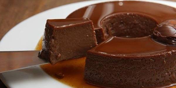 Pudim de Chocolate Fit com Chocobon